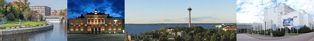 Montage of Tampere landmarks